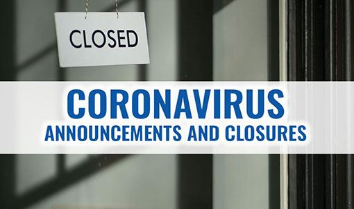 Coronavirus announcements graphic